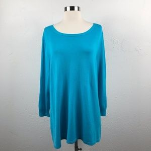 Teal Keyhole Back Top by Joseph A.